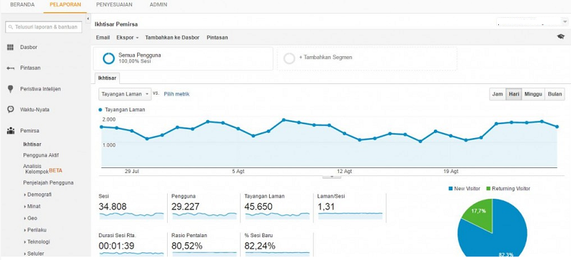 melihat pengunjung website - jasa pembuatan website - cycent