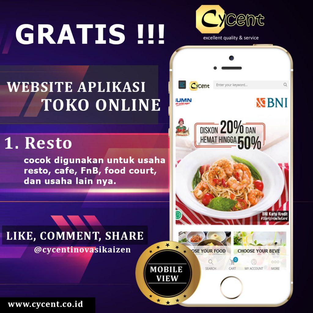 Website Aplikasi Toko Online - Cafe Resto