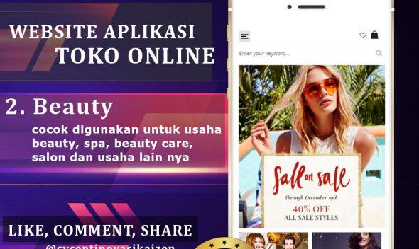 Website Aplikasi Toko Online Beauty