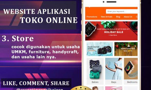 Website Aplikasi Toko Online Store