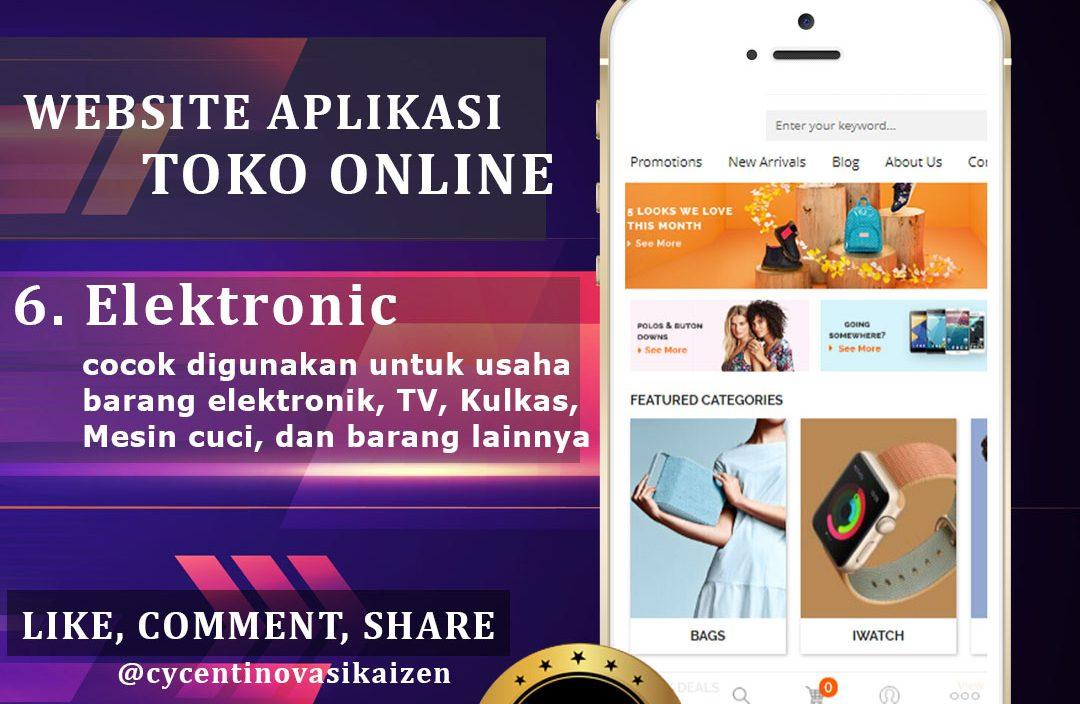 Website Aplikasi Toko Online Elektronik