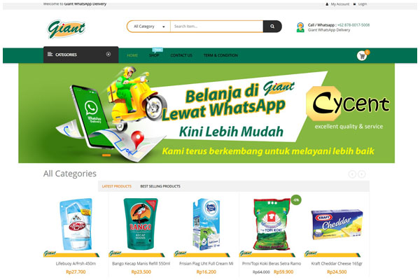 toko online Giant-Website-Cycent